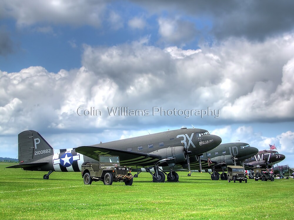 DC3 Flightline - Duxford - 2014 - HDR by Colin  Williams Photography