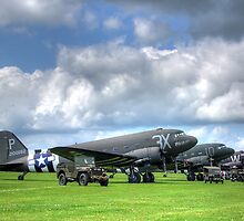 DC3 Flightline - Duxford - 2014 - HDR by Colin J Williams Photography