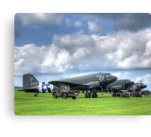 DC3 Flightline - Duxford - 2014 - HDR Canvas Print