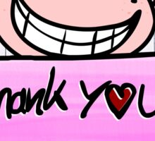 Be kind by saying thank you Sticker