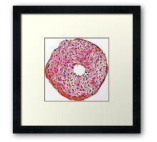 PINK donuts Framed Print
