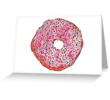 PINK donuts Greeting Card