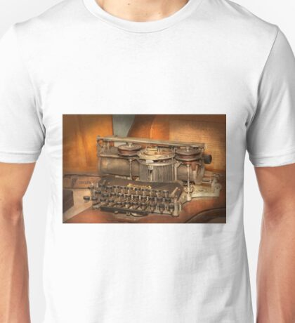 Steampunk - The history of typing Unisex T-Shirt