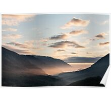 Park of Abruzzo at sunrise Poster