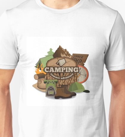 Camping insignia Unisex T-Shirt