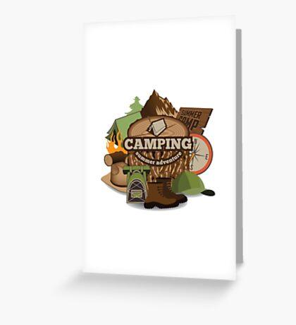 Camping insignia Greeting Card