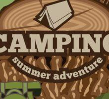 Camping insignia Sticker