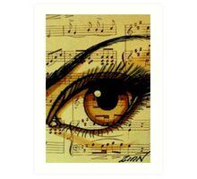 Music Eye Art Print