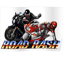 Road Rash - Graphic  Poster
