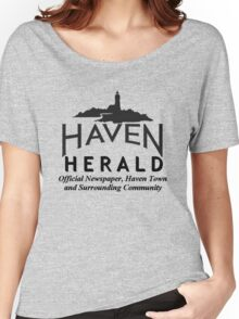 Haven Herald News Black Logo Women's Relaxed Fit T-Shirt
