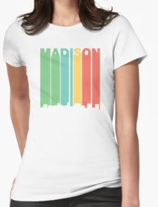 Vintage Madison Cityscape Womens Fitted T-Shirt