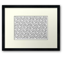ZX Spectrum BASIC 3 - Internet Generation Framed Print