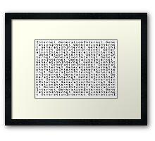 ZX Spectrum BASIC 3 - Internet Generation Framed Print