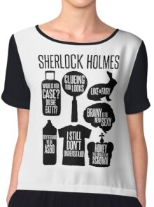Sherlock Quotes Chiffon Top