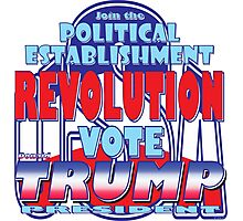 Join the Political Establishment REVOLUTION Photographic Print