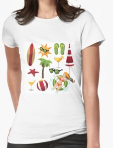 Everything you need for summer fun Womens Fitted T-Shirt