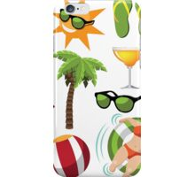 Everything you need for summer fun iPhone Case/Skin