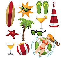 Everything you need for summer fun Photographic Print
