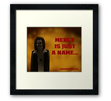 Autumn Bay - Mercy is Just a Name Framed Print