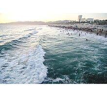 Emerald Ocean Santa Monica Photographic Print