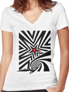 Untitled Women's Fitted V-Neck T-Shirt