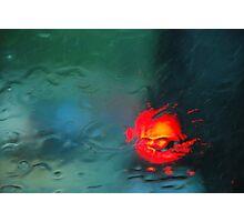 Brake lights through water Photographic Print