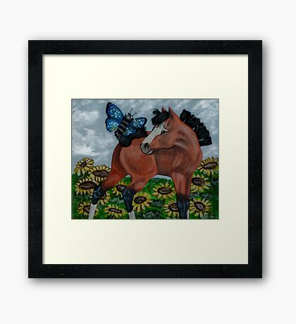 Mixed Media Foal Framed Print