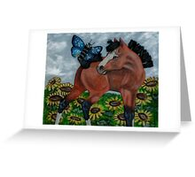 Mixed Media Foal Greeting Card