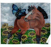 Mixed Media Foal Poster