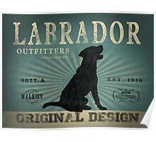 VINTAGE LABRADOR DOG ORIGINAL ART PRINT Poster