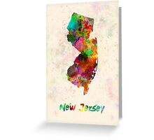New Jersey US state in watercolor Greeting Card