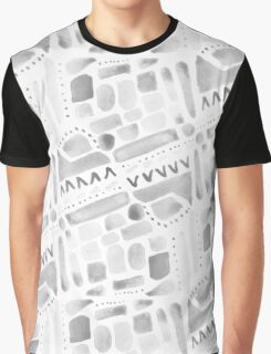 Watercolor Pattern Play in Black Graphic T-Shirt