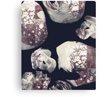 Marbled Patchwork Brush Strokes Canvas Print