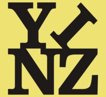 Yinz Black Lettering Kids Clothes