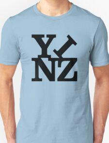 Yinz Black Lettering T-Shirt