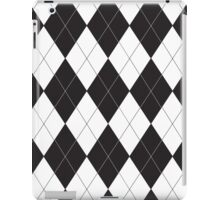 Black and White Argyle iPad Case/Skin