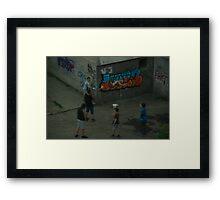 Kids in the street Framed Print