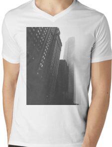 A Tall and Foggy City Mens V-Neck T-Shirt