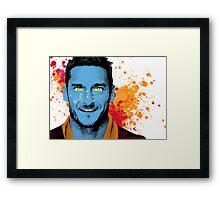 Francesco Totti AVATAR Digital Mixed Media Painting. Pop Art Painting. Framed Print
