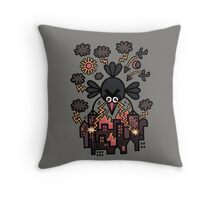 All is lost, hyperpoultry's wrath prevails Throw Pillow