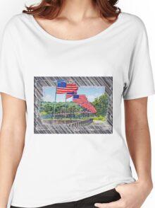 Flag Walk 2 Women's Relaxed Fit T-Shirt