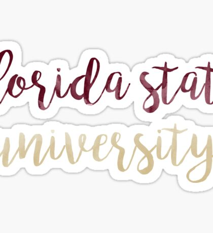 Florida State University Watercolor Sticker