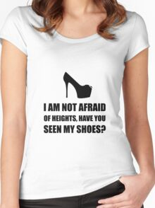 Afraid Heights Shoes Women's Fitted Scoop T-Shirt