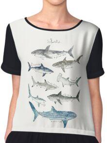 Sharks - Landscape Format Chiffon Top