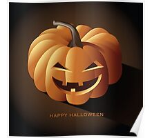 Happy halloween jack o lantern Poster