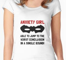Anxiety Girl Women's Fitted Scoop T-Shirt