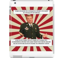 Sheriff Morgan Turd meme iPad Case/Skin