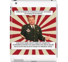 Sheriff Morgan Turd meme iPad Case/Skin