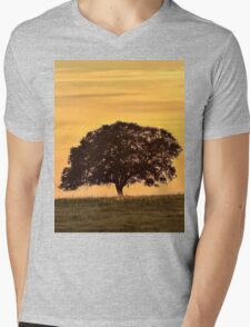 Lonely tree Mens V-Neck T-Shirt