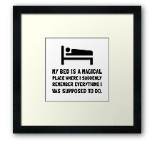 Bed Magical Place Framed Print